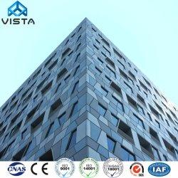 Construções prefabricadas Escritório Elevado Estrutura de aço Apartments Hotel prédio com vidro temperado
