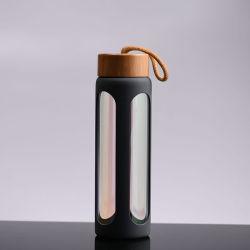 Теплового сопротивления одной стене стеклянная бутылка воды с защитный силиконовый чехол втулку подарок