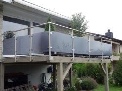 Corrimão de vidro em aço inoxidável/Escada de vidro/decoração de vidro/Pilar de vidro