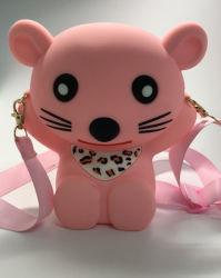 Запатентованная технология 3D-продукции животного дизайн дети дамской сумочке, силиконового герметика животных мультфильм дизайн школы для малышей мальчиков девочек