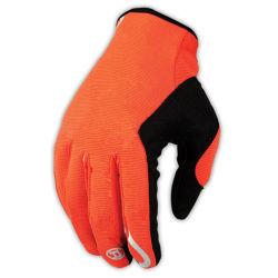 Oranje sporthandschoen met volledige vinger en een waterdichte wielrengaas (MAG78)