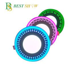 Foshan double panneau LED de couleur légère à 3+3W 6+3W 12+4W 18+6W 24+12W