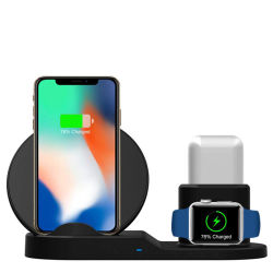 iPhone Airpodのための1匹の充満パッドの磁気無線腕時計の充電器に付きAppleの腕時計3匹のためのスマートな料金端末