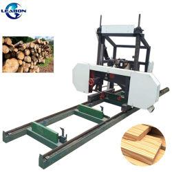 CE bois horizontale électrique Leabon scierie de billes rondes Scie à ruban de coupe