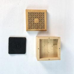 Quemador de incienso de madera de palisandro nueva Grabadora de aromaterapia en casa de madera de incienso Book-Shaped interiores mintiendo cuadro Personalizado soporte