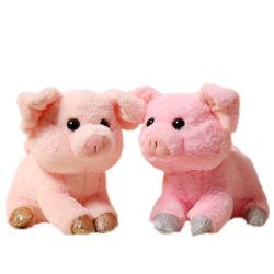 Cerdo rosa Elefante Azul Correa de algodón tejido blando juguete Pet