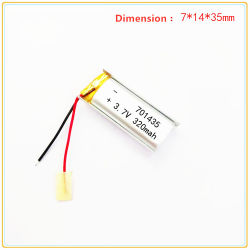 Kleinbatterie 701435 Lithium Polymer Batterie 40mAh 45mAh 3,7V Lipo Baterry für TWS Ohrhörer/Mikrofon