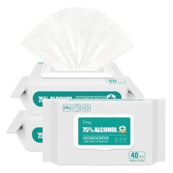 El 75% 70% de alcohol de desinfectar Alchol Desinfectant Disenfecting desinfectante antiséptico de desinfección de manos antibacteriano desinfectar toallita impregnada