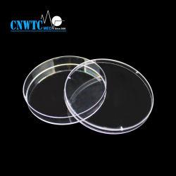 Stérile jetable en plastique transparent ronde PS 90x15mm boîte de Pétri de culture cellulaire