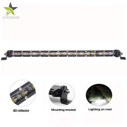 مصباح عمل صغير LED بار 90 وات صف مفرد فائق السطوع شريط إضاءة LED 6D 20 بوصة