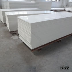 Het witte Blad van de Oppervlakte van de Comités van de Steen Decoratieve Acryl Stevige