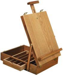 Cuadro de caballete del artista de hierro forjado, plegables para los niños el arte con el almacenamiento de caballete