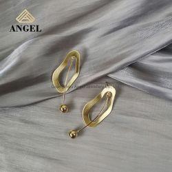 Mode bijoux 925 Sterling Bijoux en argent plaqué or minimaliste Earring