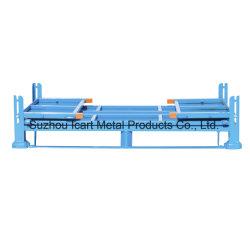 Estante plegable de metal de apilamiento logístico Puerta Palete