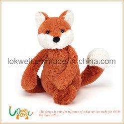 견면 벨벳 박제 동물 주황색 Fox 플라스틱은 인형 장난감을 주목한다