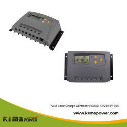 HS80D 80amp chargeur solaire PWM LCD du contrôleur avec le temps et de contrôle d'éclairage