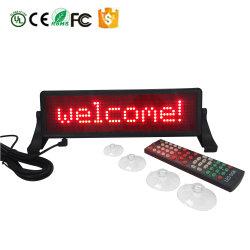 Luminosité réglable de 6 LED de niveau mini signe de voiture de série du contrôleur de la télécommande infrarouge USB computer Carte d'affichage LED en option Signer Android téléphone mobile Bluetooth