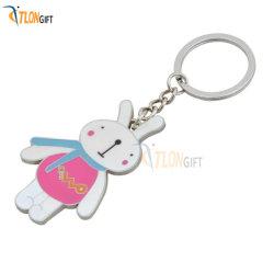 New Product Ideas Factory High Quality Lover Rabbit Custom Metal Sleutelhanger