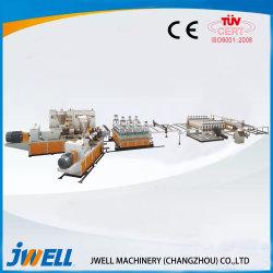 Plastik PVC/PVC WPC beweglicher und geeigneter Preis für Wand-Dekoration/Fußboden-Leitschiene-/Tür-Flamme-Plastikmaschinerie/Herstellung-Maschine