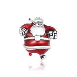 에나멜 크리스마스 컬렉션 S925 실버 팔찌 갈고리
