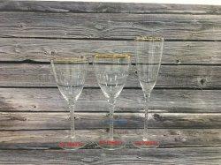 Paibee Goldfelgen-Kristallbecher Champagne/Rotwein-Glashochzeits-Tischplatte-Glaswaren
