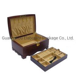 Cassa di legno reale di lusso personalizzata della casella dell'accumulazione del regalo dei monili