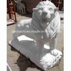 Bester Steinmarmorgranit kundenspezifische Skulptur für Abbildung/Löwe/Elefanten