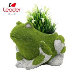 Résine personnalisés avec l'herbe du semoir de grenouille pour décoration de jardin