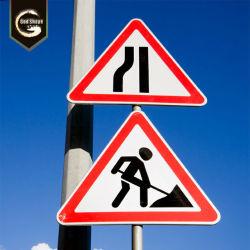 Forma de sinais de segurança rodoviária reflexivo de sinal de tráfego rodoviário de Aviso