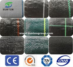 Preto/Verde/Branco de PP/PE/Controle de plantas daninhas em tecido plástico produtos/Fabric para Agricultura/Jardim/paisagem