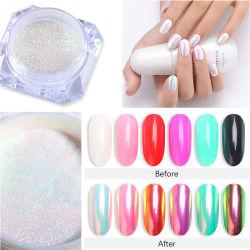 Rainbow Mirror Pearl Luster Aurora Pigment Nail Dipping Poeder