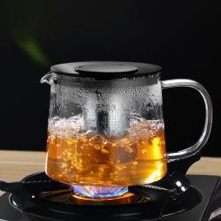 Venda por grosso de vidro vidro borossilicato chaleira chá térmica jarra de café