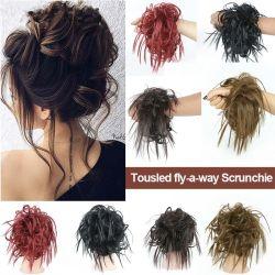 Cousted Messy Bun updo Ponytail Curly Scrunchie Elastic Band Chignon Accessorio per capelli