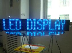 P10 segnale LED a scorrimento semi-esterno blu