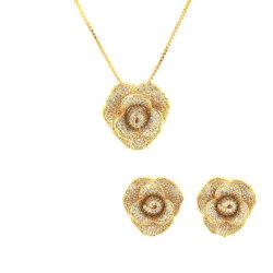 18K金の方法宝石類のネックレスのイヤリングによってセットされる結婚の宝石類