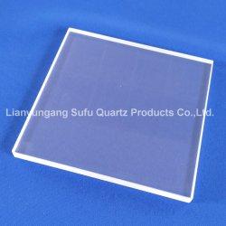 Alimentation d'usine Clear UV résistant au feu de la plaque de quartz fondu