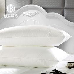 白の100%年の綿の満ちる枕が付いている贅沢な綿の枕カバー