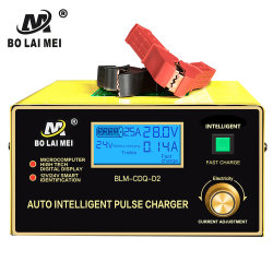 Automático de alta calidad 12V 24V 0-30 un cargador de batería inteligente ajustable