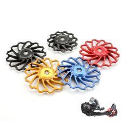 El rodillo de guía de cerámica de tensor, polea de rodamiento de rueda jockey Bicycle desviador trasero de la tensión de la carretera Mountain Bike