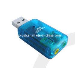 USB إلى صوت استريو 5.1 قناة صوت /Mini USB هدية (he-280B)