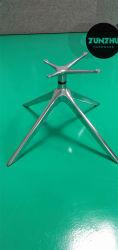 Cadeira giratória Acabamento cromado da estrutura do gabinete de metal na perna cadeira do visitante
