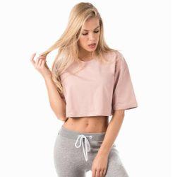 Дешевые Streetwear короткие втулки женщин спортзал футболки