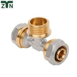 速い配達の黄銅または管またはホースフィッティングの旋回装置の枝ティー