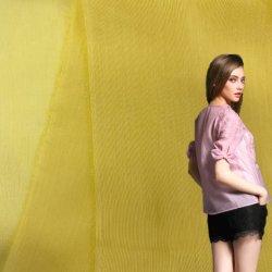 الصين المصنع 9 مم 30%الحرير 70%الحرير مزيج الحرير من القطن تمدّد ناعم وخي شعور اليد جيد لقمصان T-Shirts Elastane Cottony Single Jersey Fabric