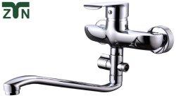 Doppio foro bagno rubinetto vasca miscelatore rubinetto doccia in ottone