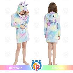 2020 L'hiver Childre Super Doux imprimé coloré en peluche Star peignoir en molleton à capuchon