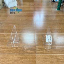 Comptoir assemblés personnalisé écran protecteur transparent en acrylique bouclier de protection d'éternuer Guard Commerce de gros