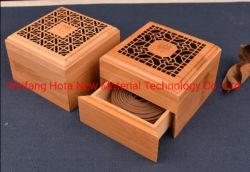 Выгравированный деревянные благовоний горелки круглые или квадратные Подарочная упаковка