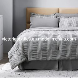 Amazon Best Sale, Seersucker Luxe Bedding Duwelen dekhoes set, Home Textiles voor Master Slaapkamer