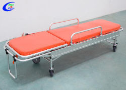 Le chargement de l'Ambulance Firstaid nouvel alliage Voiture de sauvetage de civière de chariot pliant pliable et compact